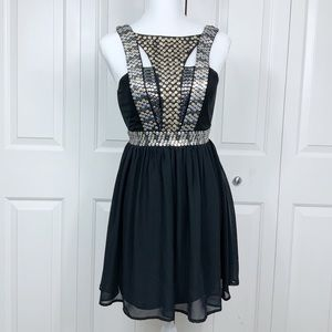 QUINN Sequin Black Party & Special Occasion Dress